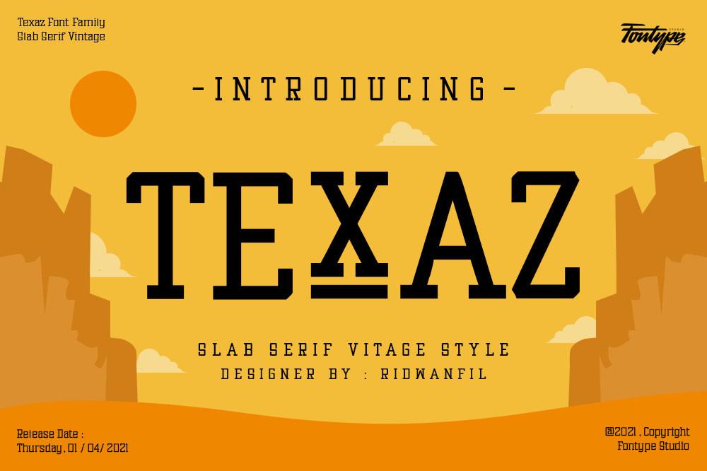 Texaz Font