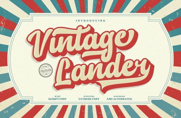 Vintage Lander Font
