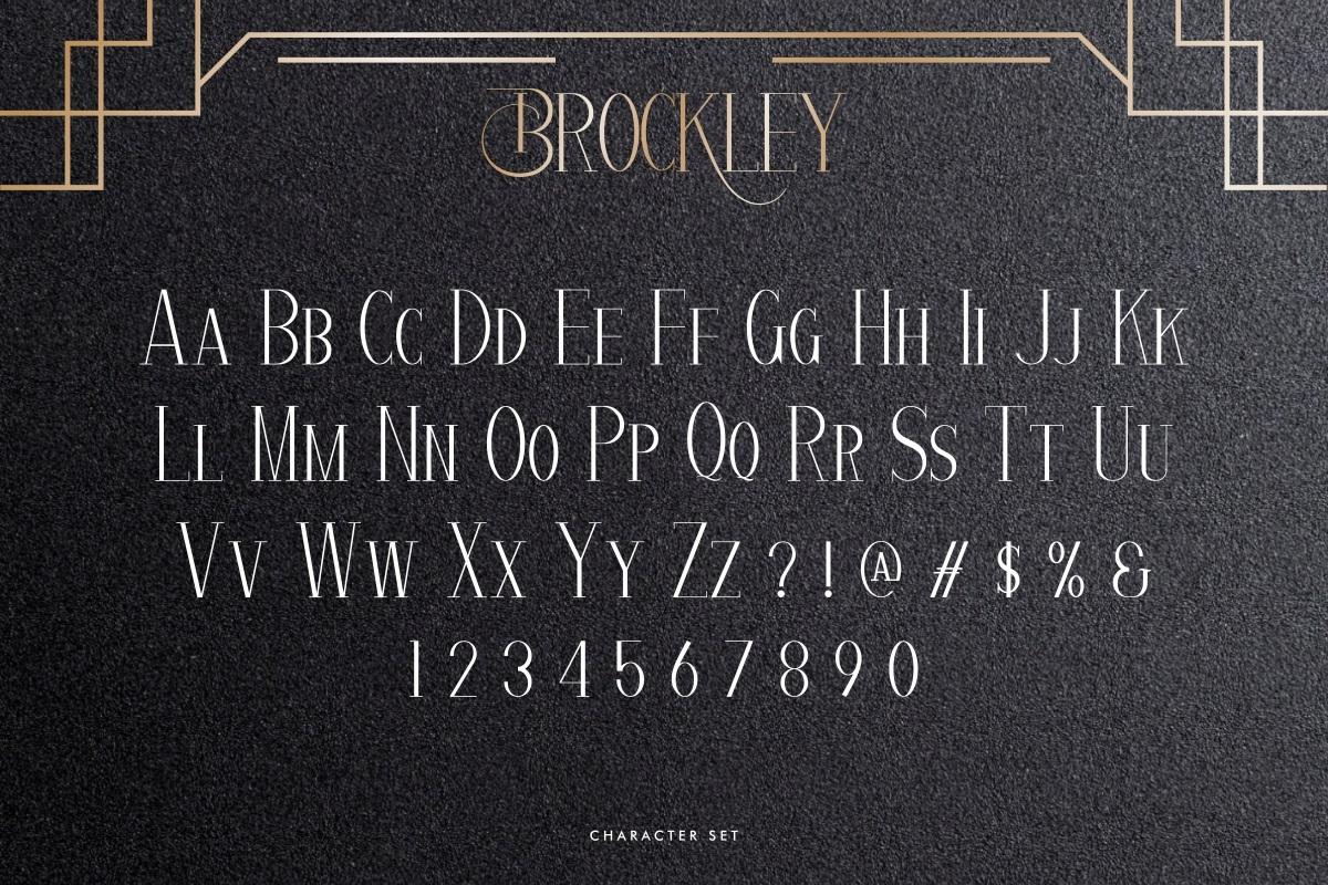 Brockley Font-2