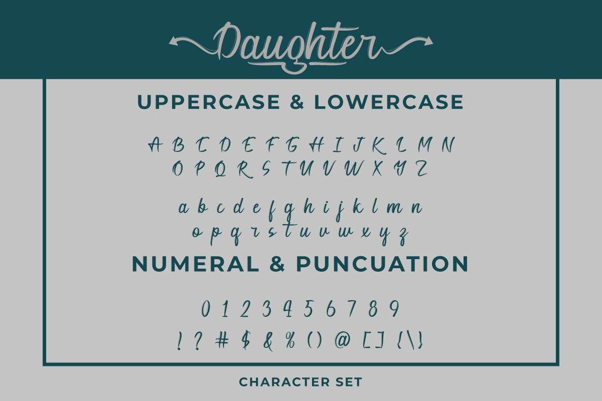 Daughter Font-3