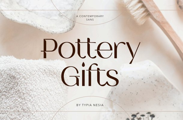 Pottery Gifts Font
