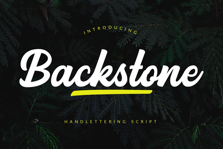 Backstone Font