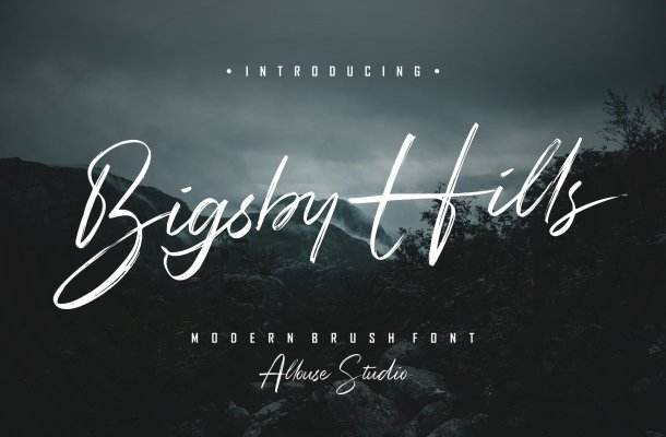 Bigsby Hills Font