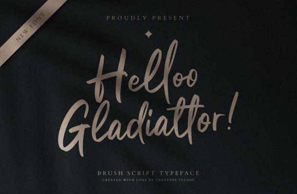 Helloo Gladiattor Font