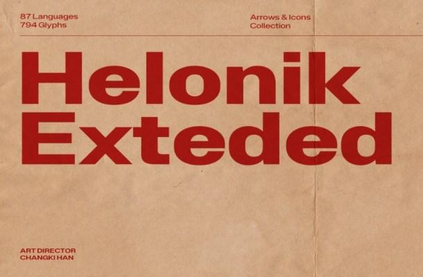 Helonik Extended Font