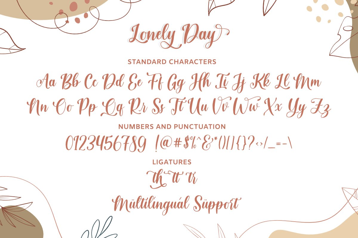 Lonely Day Font-3