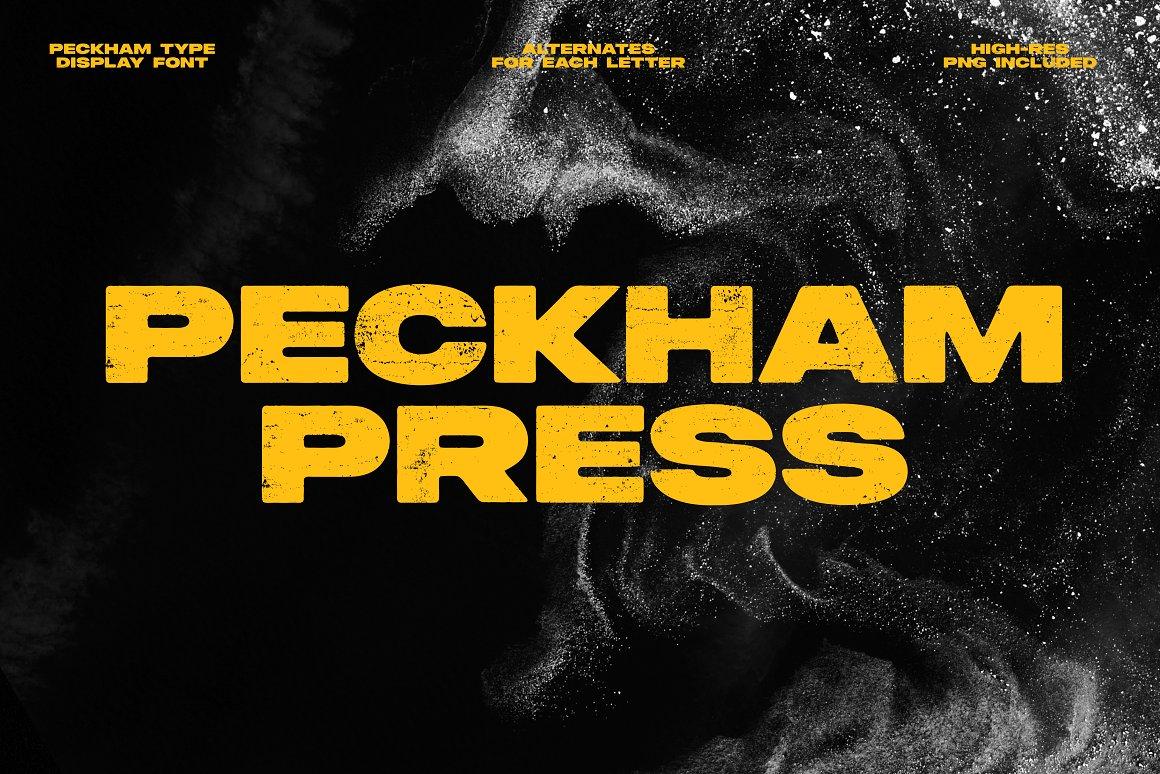 Peckham Press Font
