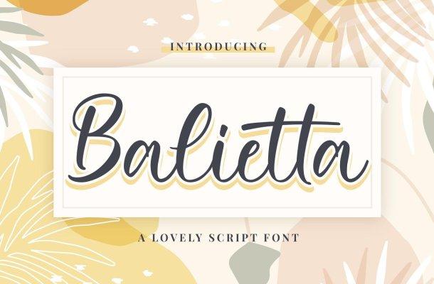 Balietta Font