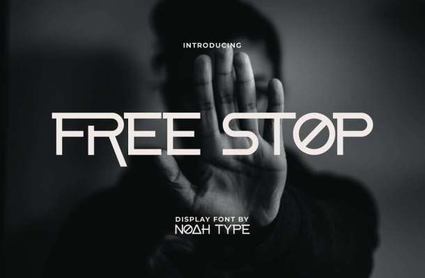 Free Stop Font