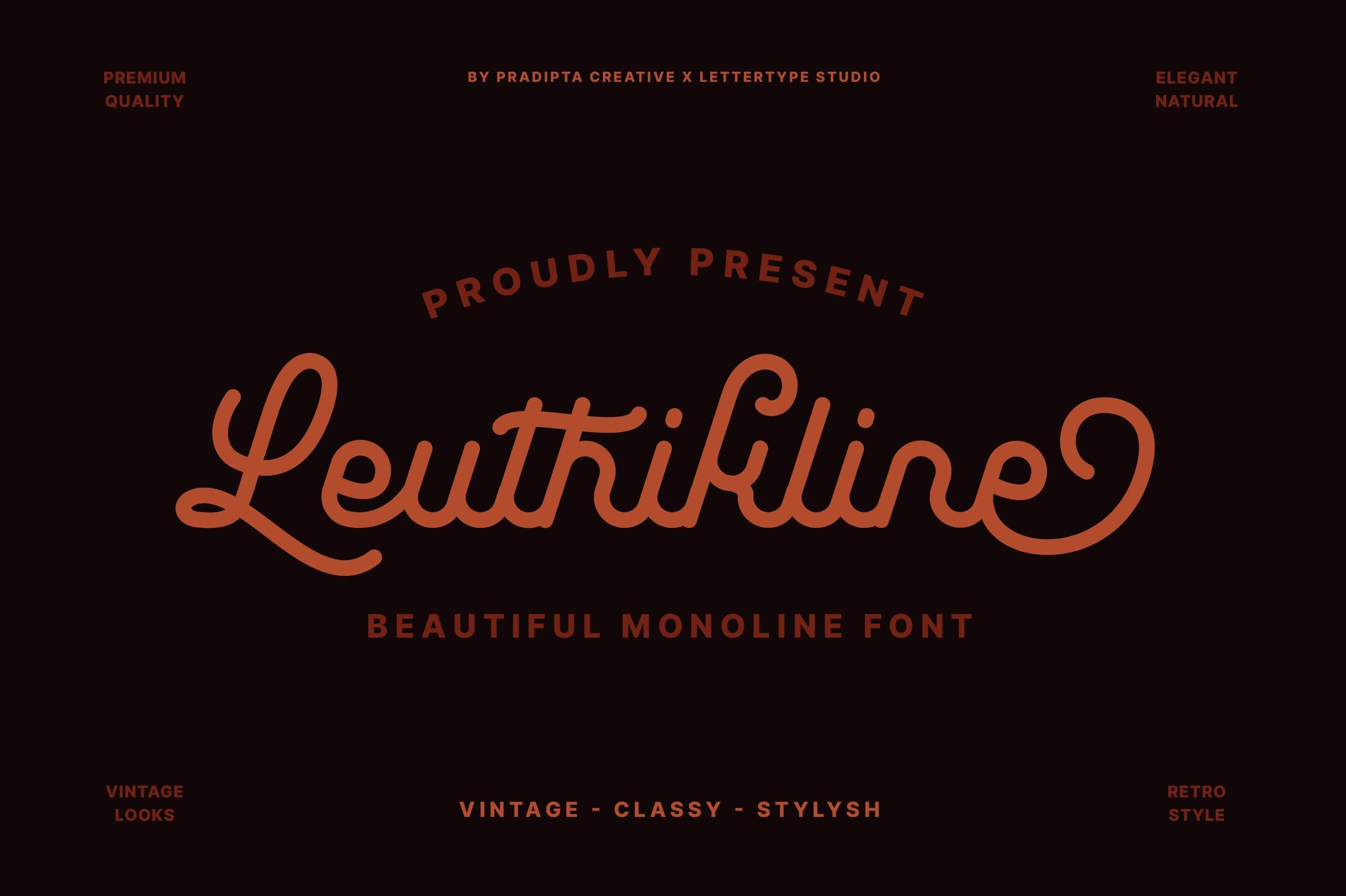 Leuthikline Font