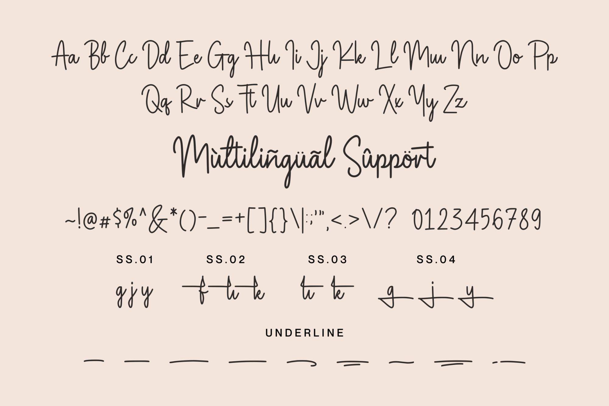 Magnolia Sparkling Font-3