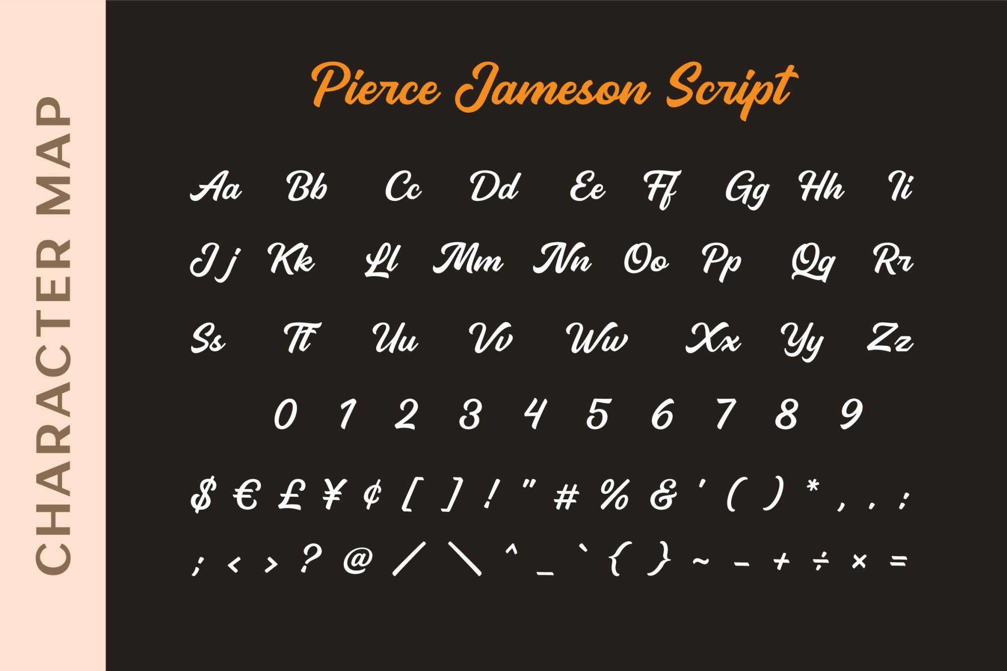 Pierce Jameson Font Duo-2