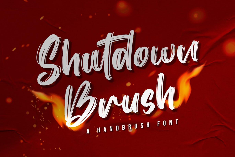 Shutdown Brush Font