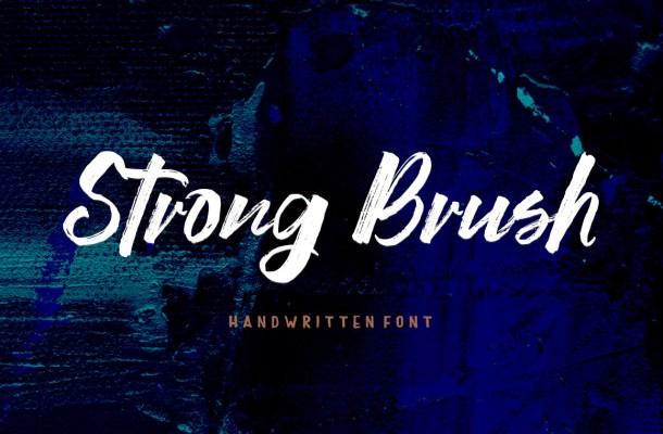 Strong Brush Font