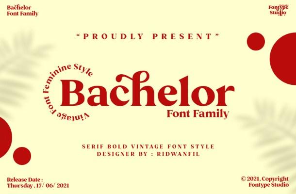 Bachelor Font Family
