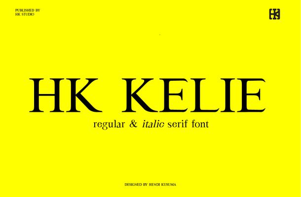 HK Kelie Font