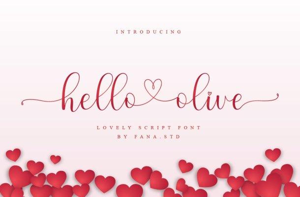 Hello Olive Font
