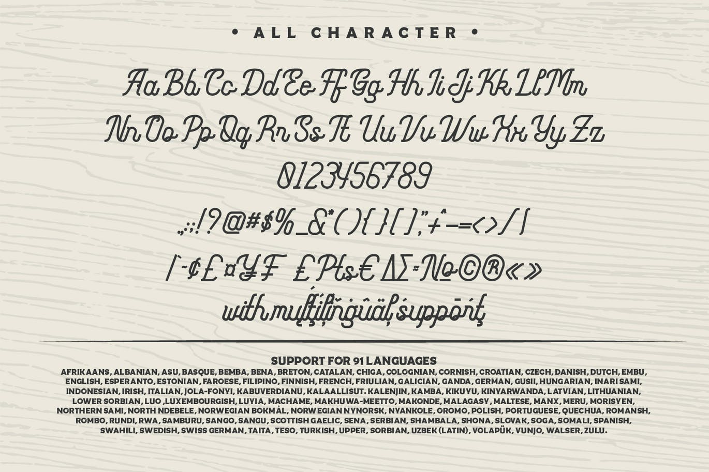 Monoline Fighter Font-3