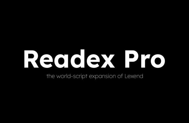 Readex Pro Font