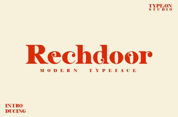 Rechdoor Font