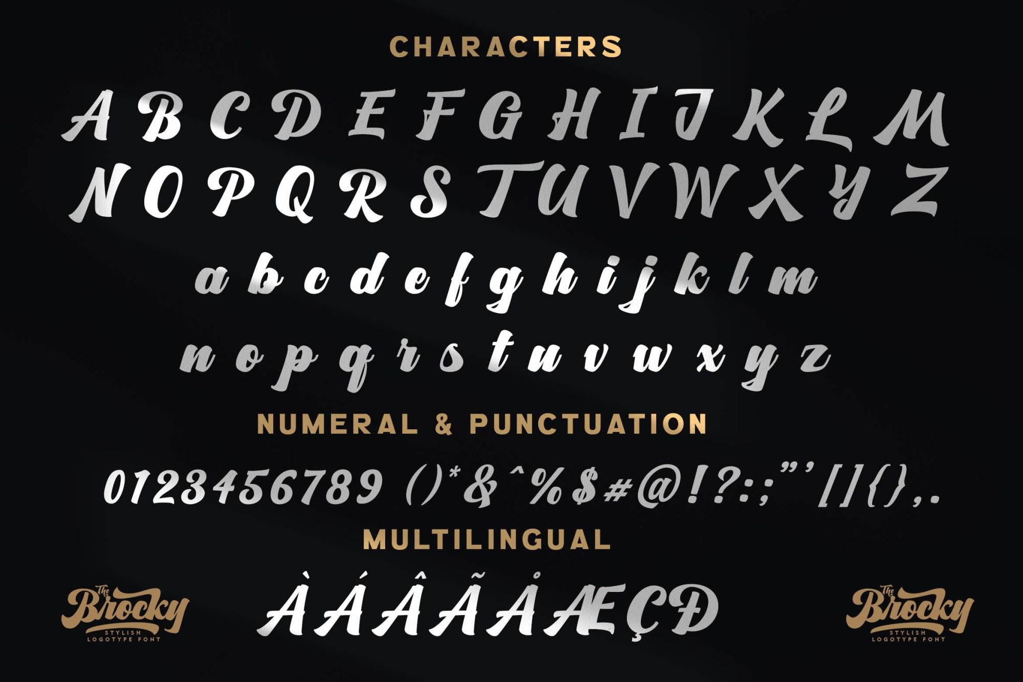 The Brocky Font-3