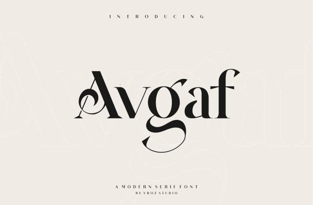 Avgaf Font