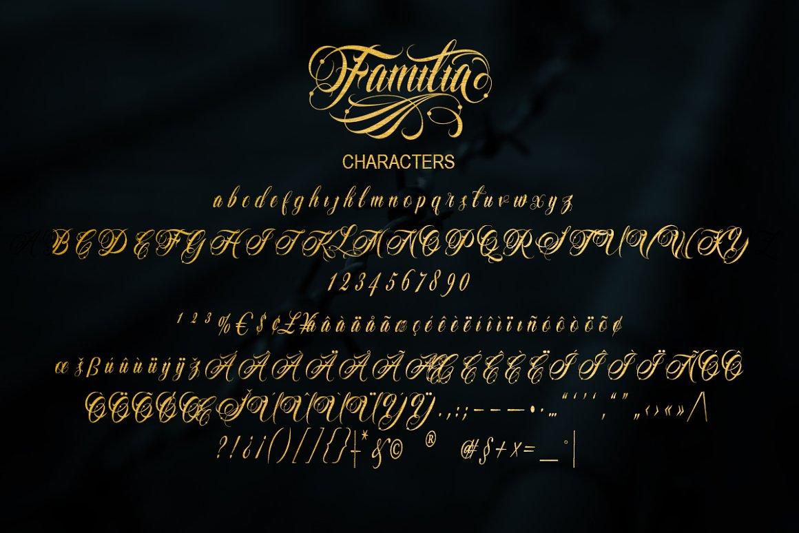 Familia Tattoo Font-3