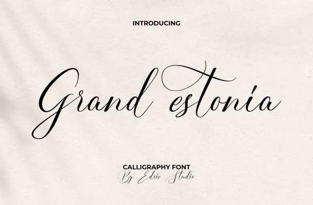 Grand Estonia Font