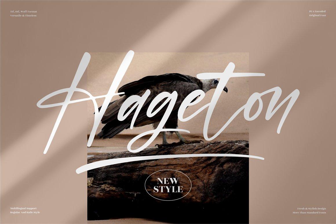 Hageton Font