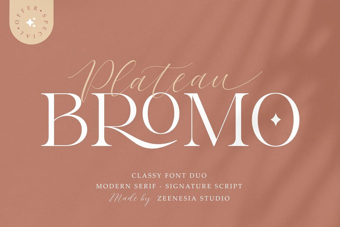Bromo Plateau Font
