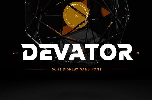 Devator Display Font