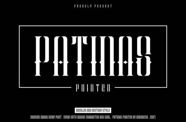 Patinas Pointed Font