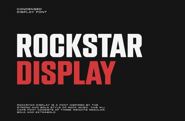 Rockstar Display Font