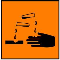 Simbol Bahan Kimia Berbahaya - korosif