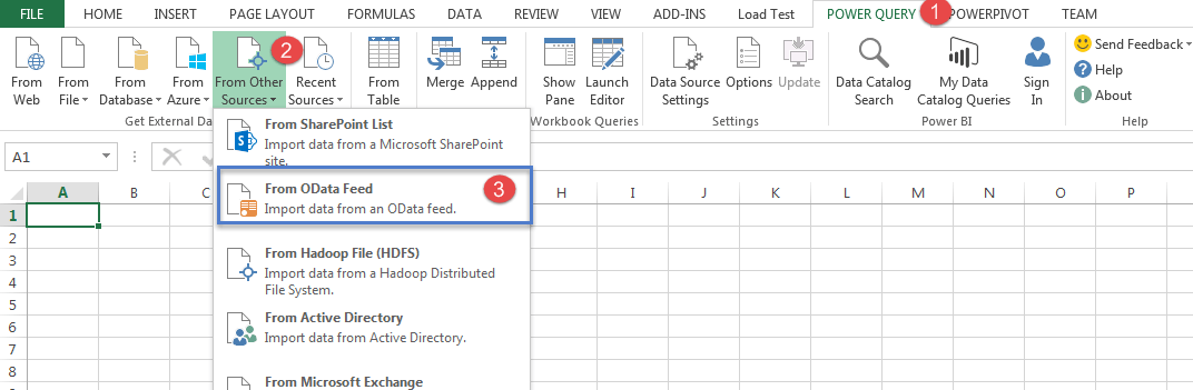 Connect to Odata feed with power query - Dagdoo org