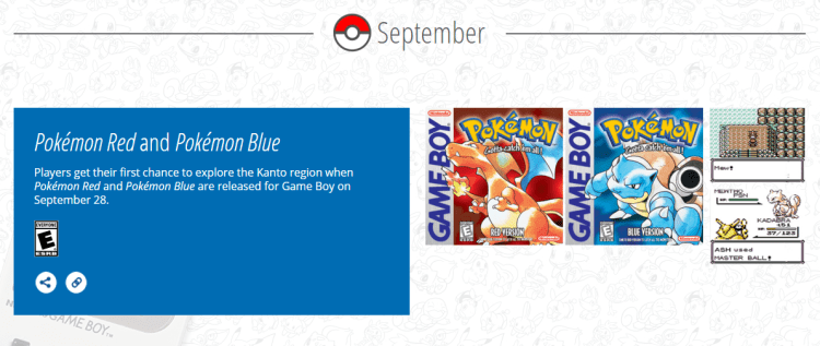 You Can Now Take a Look Back to 20 Years of Pokemon! US Release