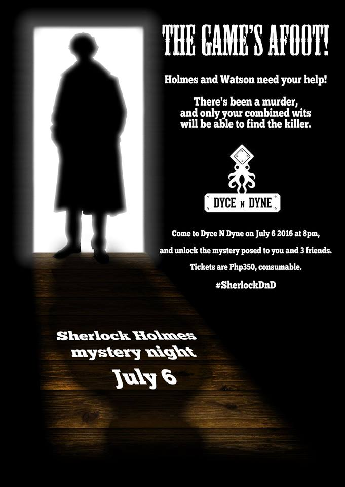 Dyce N Dyne Sherlock Holmes Mystery Night Poster DAGeeks