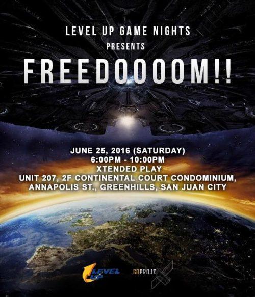 Level Up Game Nights FREDOOOOM Poster DAGeeks