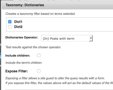 Selecting QW Terms