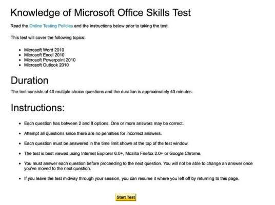 Start Upwork Skill Test