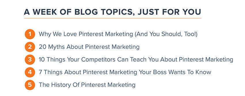 Hubspot Pinterest Marketing blog post ideas