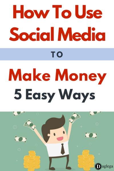 use social media make money easy ways daglega pinterest
