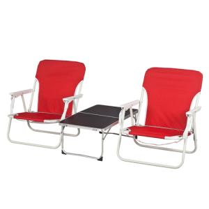 סט זוג כסאות קמפינג עם שולחן קטן, מגיע בתוך תיק, קל לנשיאה.