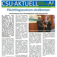 CSU-AKTUELL online Magazin für Nürnberg, Fürth, Fürth-Land und Schwabach #10-2015