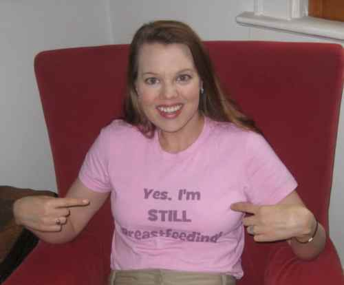 I'm still breastfeeding T-shirt and Dagmar Bleasdale