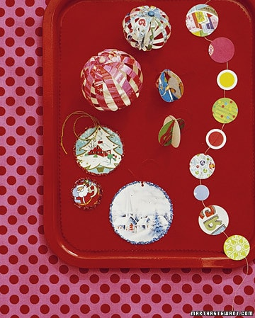 Holiday crafts: recycled cards ornament from MarthaSteward.com