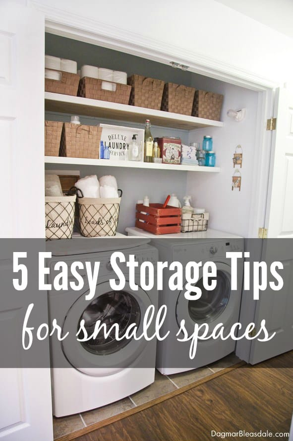 storage tips for small spaces, DagmarBleasdale.com
