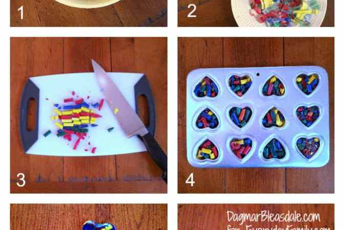 Tutorial: DIY Crayon Hearts for Valentine's Day