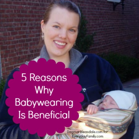 5 Benefits of Babywearing