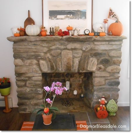 Decorating A Fall Mantel on a Budget